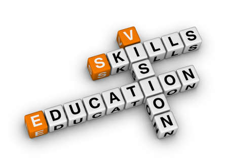 skill vision education (orange-white crossword puzzles series) photo