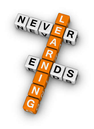 learning never ends (orange-white crossword puzzles series) photo