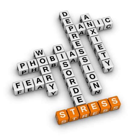 정신 건강 (오렌지 - 흰색 크로스 워드 퍼즐 시리즈)
