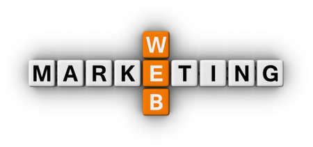 web marketing crossword puzzle sign photo