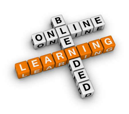 blended: online blended learning (orange-white crossword puzzles series)