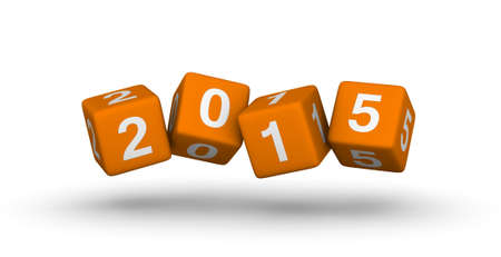 2015 year red cubes symbol photo
