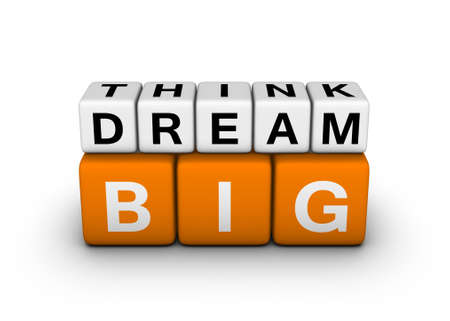 big think big dream symbol (orange-white crossword puzzles series) photo
