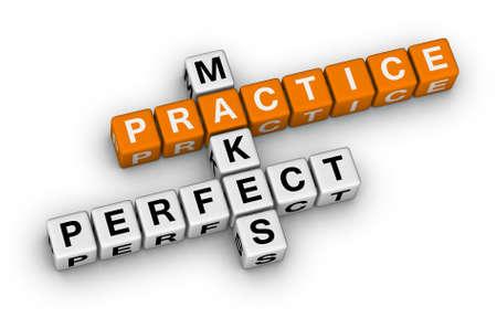 practice makes perfect (orange-white crossword puzzles series) photo