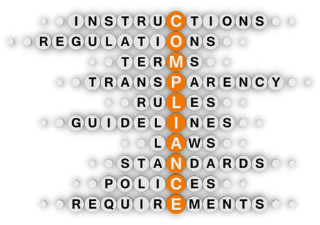 regulation: compliance (orange-white crossword puzzles series)
