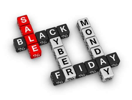 Verkauf black friday und Cyber ??Monday Standard-Bild - 30864683