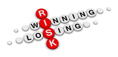 lose balance: risk win or lose crossword
