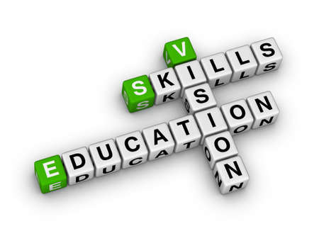 skill vision education (green-white crossword series) photo