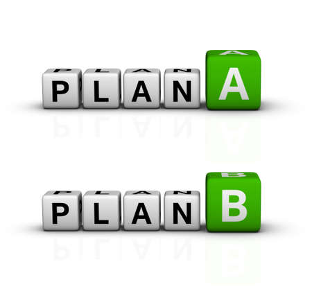 plan A and B icon (green-white crossword series) photo