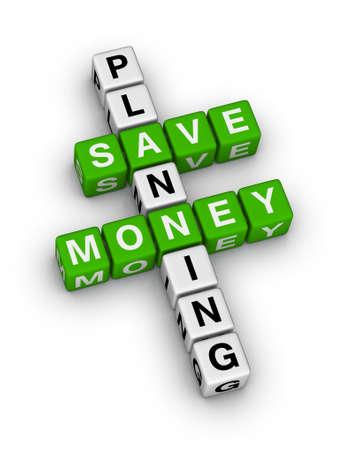 save money planning crossword puzzle photo