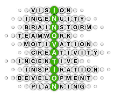 innovation concept crossword puzzle photo