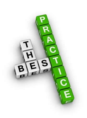 best service: the best practice crossword puzzle Stock Photo