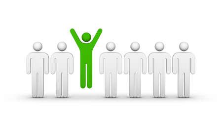 Einer Menschenmenge (Gewinn oder anderes Konzept) Standard-Bild - 30801882
