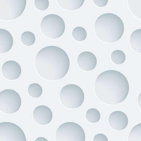 잘라낸 효과가있는 흰색 천공 용지. 추상 3D 원활한 배경입니다. 일러스트
