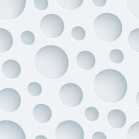 paper cut out: White perforated paper with cut out effect. Abstract 3d seamless background.