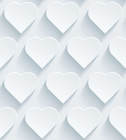 love wallpaper: White perforated paper with cut out effect. Abstract 3d seamless background.