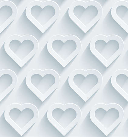 embossed paper: White perforated paper with cut out effect. Abstract 3d seamless background.