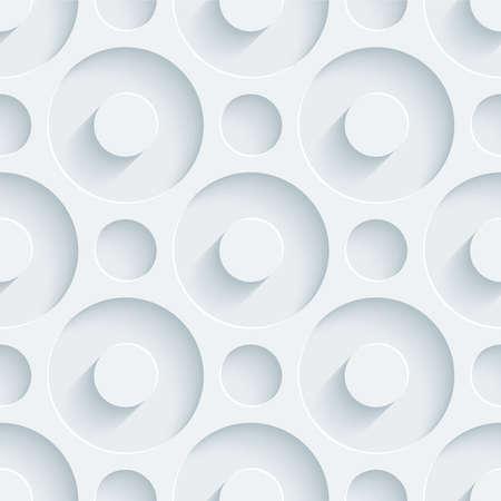 ホワイト パンチング アウト効果カット紙。抽象的な 3 d のシームレスな背景。ベクトル EPS10。
