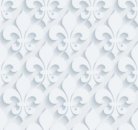 lys: White perforated paper with cut out effect. Abstract 3d seamless background.