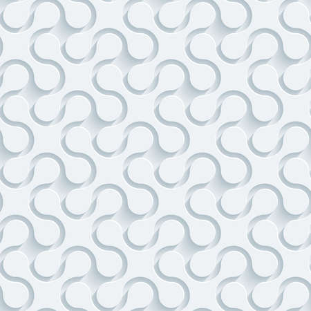 perforated: White perforated paper with cut out effect. Abstract 3d seamless background.