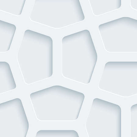 symetry: White perforated paper with cut out effect. Abstract 3d seamless background.