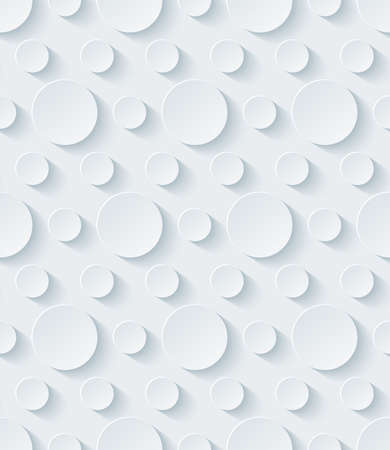 White perforated paper with cut out effect. Abstract 3d seamless background.  Vectores