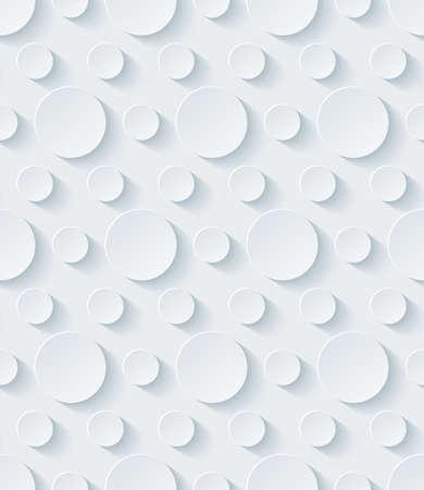 Wit geperforeerd papier met uitgesneden effect. Abstracte 3d naadloze achtergrond. Stock Illustratie