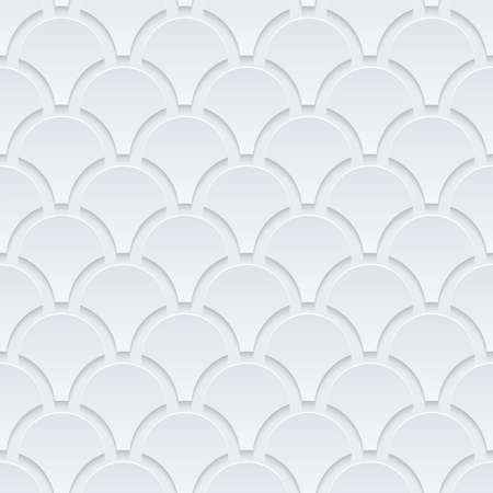 snake origami: White perforated paper with cut out effect. Abstract 3d seamless background.