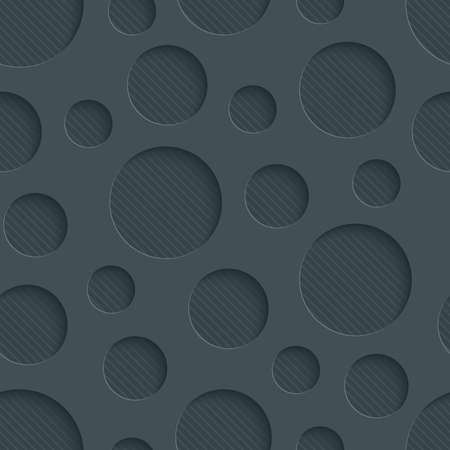 vynil: Dark perforated paper with cut out effect. Abstract 3d seamless background. Vector EPS10.