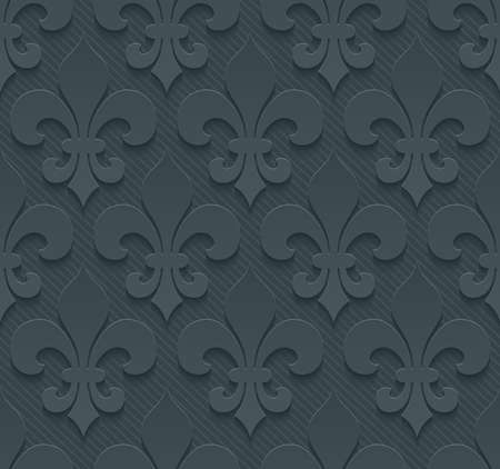 Dark perforated paper with cut out effect. Abstract 3d seamless background. Vector EPS10.