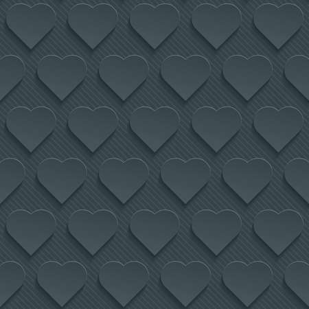 tillable: Dark perforated paper with cut out effect. Abstract 3d seamless background. Vector EPS10.