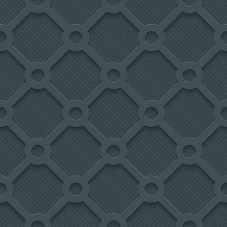 embossed paper: Dark perforated paper with cut out effect. Abstract 3d seamless background. Vector EPS10.