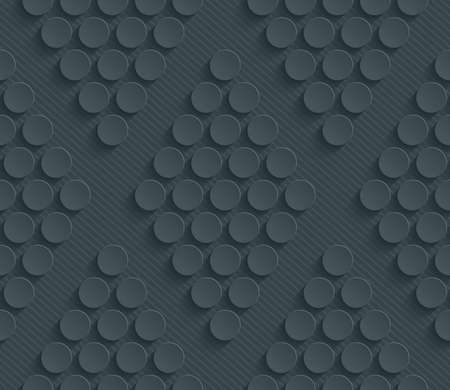 rhombic: Dark perforated paper with cut out effect. Abstract 3d seamless background. Vector EPS10.