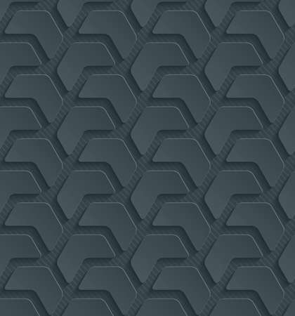 embossed paper: Dark perforated paper with cut out effect. Abstract 3d seamless background.
