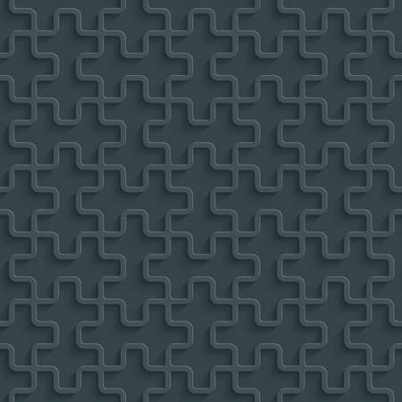 Dark perforated paper with cut out effect. Abstract 3d seamless background. Vector