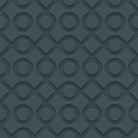 vynil: Dark perforated paper with cut out effect. Abstract 3d seamless background.