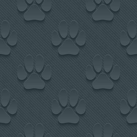 petshop: Dark perforated paper with cut out effect. Abstract 3d seamless background.