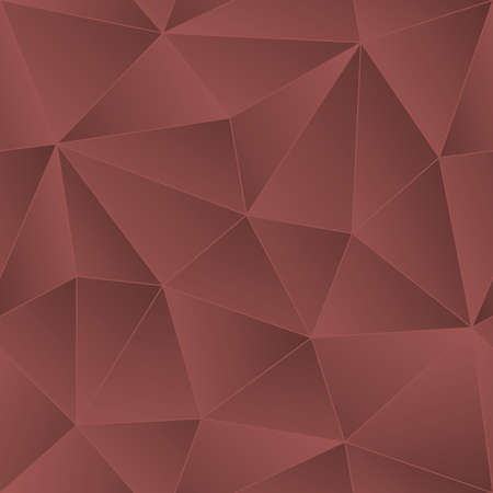 Low Poly Marsala Color Seamless Vector Background. Vector