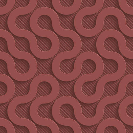 vynil: Marsala color perforated paper with cut out effect. Abstract 3d seamless background.