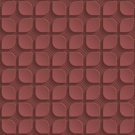 sangria: Marsala color perforated paper with cut out effect. Abstract 3d seamless background.