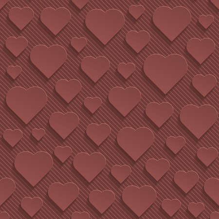 terra: Marsala color perforated paper with cut out effect. Abstract 3d seamless background.