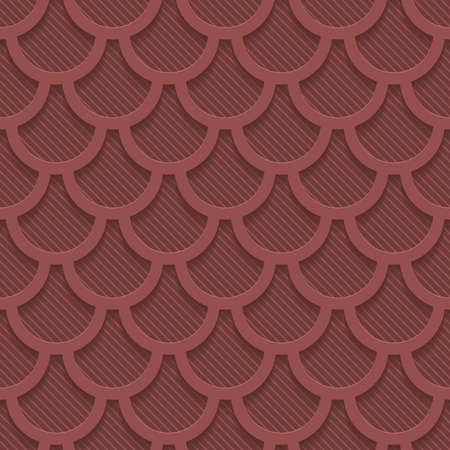 Marsala color perforated paper with cut out effect. Abstract 3d seamless background. Vector EPS10. Vector