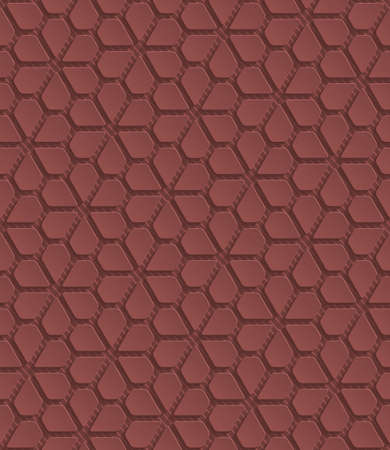Marsala color perforated paper with cut out effect. Abstract 3d seamless background. Vector