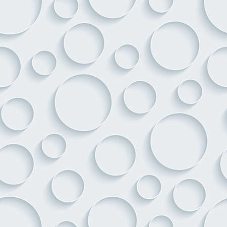 White paper with outline extrude effect. Abstract 3d seamless background. Vettoriali