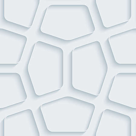 symetry: White paper with outline extrude effect. Abstract 3d seamless background. Illustration