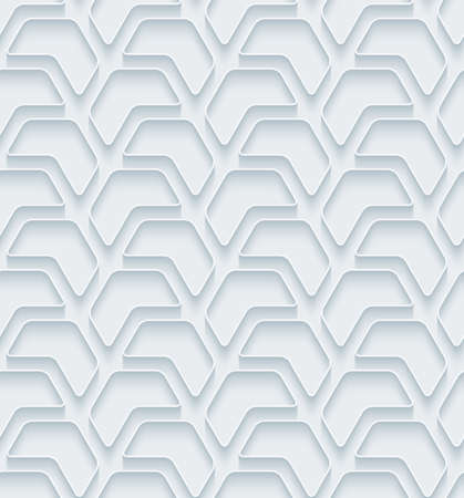 extrude: White paper with outline extrude effect. Abstract 3d seamless background. Illustration