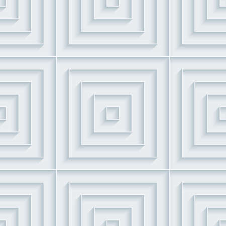 extrude: White paper with outline extrude effect. Abstract 3d seamless background.