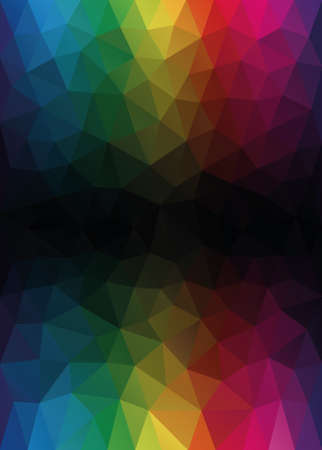 copyspace: Colorful Low Poly Vector Background with Copyspace For Your Cover or Flyer Design. Illustration