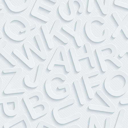 vynil: Light perforated paper with cut out effect. Abstract 3d seamless background. Vector EPS10.