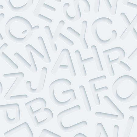 Licht geperforeerd papier met uitgesneden effect. Abstracte 3d naadloze achtergrond. Vector EPS10. Stock Illustratie